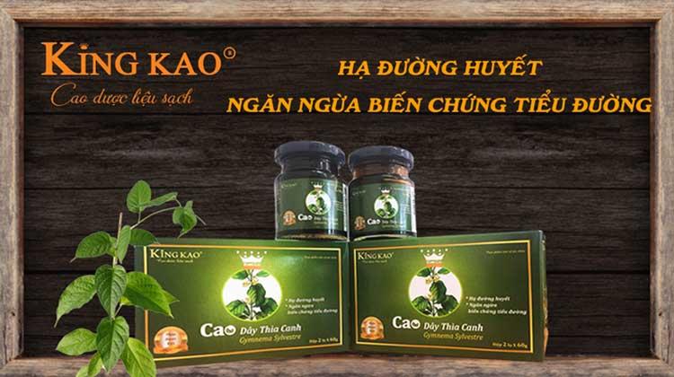 Cao dây thìa canh Kinh Kao ngăn ngừa biến chứng bệnh tiểu đường