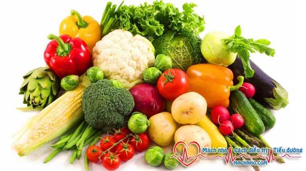 rau củ quả dành cho người tiểu đường